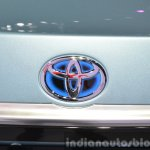 Toyota Corolla Hybrid Toyota badge blue at Auto Shanghai 2015