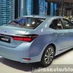 Toyota Corolla Hybrid rear three quarter at Auto Shanghai 2015
