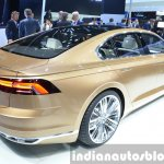 VW C Coupe GTE Concept rear three quarter view at the Auto Shanghai 2015