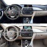 2015 BMW 3 Series facelift vs older model interior