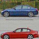 2015 BMW 3 Series facelift vs older model side