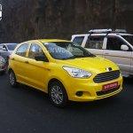 2015 Ford Figo front quarter spied Pune