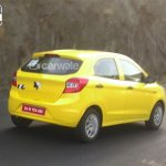 2015 Ford Figo rear quarter spied Pune