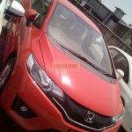 2015 Honda Jazz CVT front fascia spied at dealership