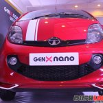 2015 Tata GenX Nano front with sporty accessories and sunroof