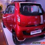 2015 Tata GenX Nano rear three quarter with sporty accessories and sunroof