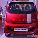 2015 Tata GenX Nano rear with sporty accessories and sunroof