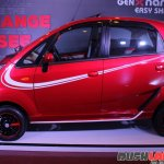 2015 Tata GenX Nano side with sporty accessories and sunroof