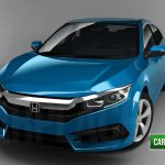 2016 Honda Civic front quarter sedan rendering
