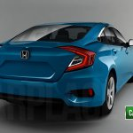 2016 Honda Civic rear quarter sedan rendering