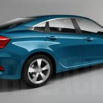 2016 Honda Civic rear quarters sedan rendering