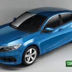 2016 Honda Civic sedan rendering
