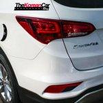2016 Hyundai Santa Fe rear end spotted up close