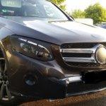 2016 Mercedes GLC front three quarter spied up close