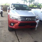 2016 Toyota Hilux Revo top-end front spotted before launch