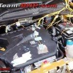 Fiat Punto Evo T-JET engine compartment spied India
