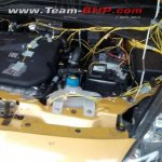 Fiat Punto Evo T-JET engine spied India