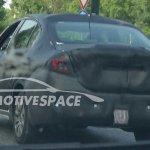 Fiat compact sedan (Linea successor) rear view spied in Turin