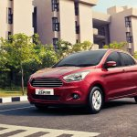 Ford Figo Aspire front quarter press shots