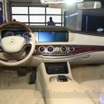 Mercedes S600 Guard dashboard from the India launch