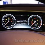 Mercedes S600 Guard digital instrument cluster from the India launch