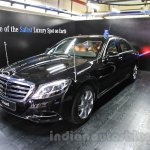 Mercedes S600 Guard front three quarter left from the India launch