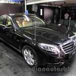 Mercedes S600 Guard front three quarters left from the India launch