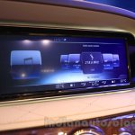 Mercedes S600 Guard infotainment system from the India launch