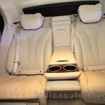 Mercedes S600 Guard rear individual seats from the India launch