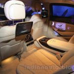 Mercedes S600 Guard rear legroom from the India launch