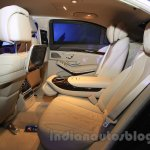 Mercedes S600 Guard rear seating from the India launch