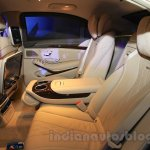 Mercedes S600 Guard rear seats from the India launch