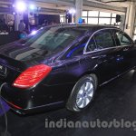 Mercedes S600 Guard rear three quarter from the India launch