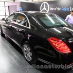 Mercedes S600 Guard rear three quarter left from the India launch
