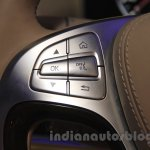 Mercedes S600 Guard steering mounted audio controls from the India launch