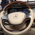 Mercedes S600 Guard steering wheel from the India launch