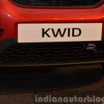 Renault Kwid front bumper India unveiling