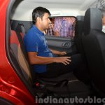 Renault Kwid rear seat space India unveiling
