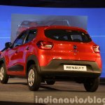 Renault Kwid rear three quarter from India