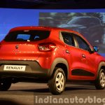 Renault Kwid rear three quarter left view from India