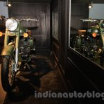 Royal Enfield Classic 500 Limited Edition Battle green despatch front quarter unveiled at new flagship store