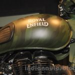 Royal Enfield Classic 500 Limited Edition Battle green despatch fuel tank unveiled at new flagship store