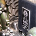 Royal Enfield Classic 500 Limited Edition Battle green despatch plaque unveiled at new flagship store