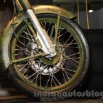 Royal Enfield Classic 500 Limited Edition Battle green despatch rim unveiled at new flagship store