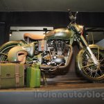 Royal Enfield Classic 500 Limited Edition Battle green despatch side unveiled at new flagship store