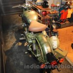 Royal Enfield Classic 500 Limited Edition Battle green despatch top rear view (1) unveiled at new flagship store