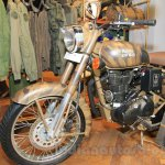 Royal Enfield Classic 500 Limited Edition Desert Storm despatch front three quarter unveiled at new flagship store