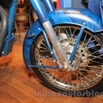 Royal Enfield Classic 500 Limited Edition Squadron Blue despatch front wheel unveiled at new flagship store