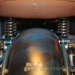 Royal Enfield Classic 500 Limited Edition Squadron Blue despatch seat with embossed logo unveiled at new flagship store