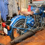 Royal Enfield Classic 500 Limited Edition Squadron Blue despatch unveiled rear quarter at new flagship store